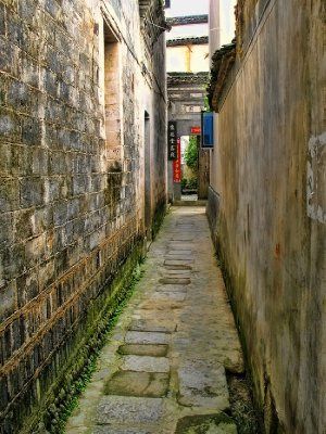 Down and ancient alley
