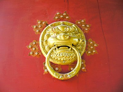 Chinese Door Knocker Closeup