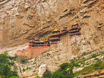 The famous Hanging Monastery of Hengshan