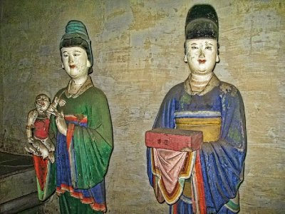 Kinda looks like Song Dynasty ladies if I were to guess. All of them were completely different