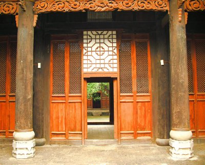 Qing Carved Doorway