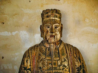 Ancient Wooden Buddha