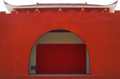 A Huge Red Entrance