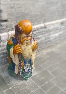A Great Looking Wooden Monk