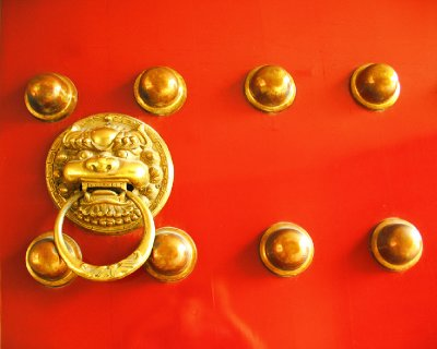 Red and Gold Knocker
