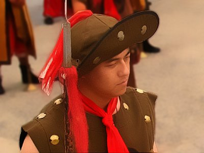A soldier during the Opening