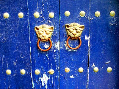Knocker on Blue