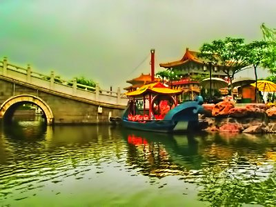 A bridge scene