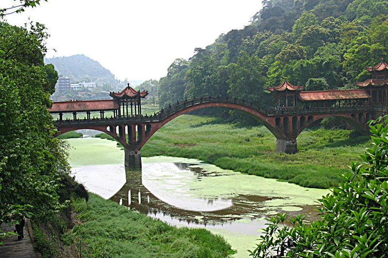 Bridge Over The River In Leshan
