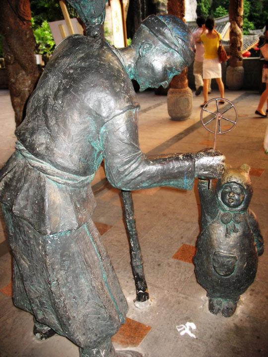HYD Bronze Statue with child
