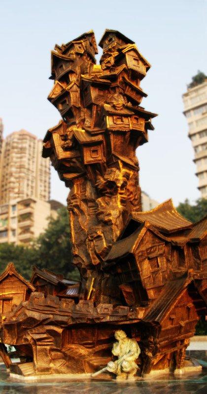 HYD Weird House Sculpture
