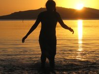 Splashing Fiji Sunset