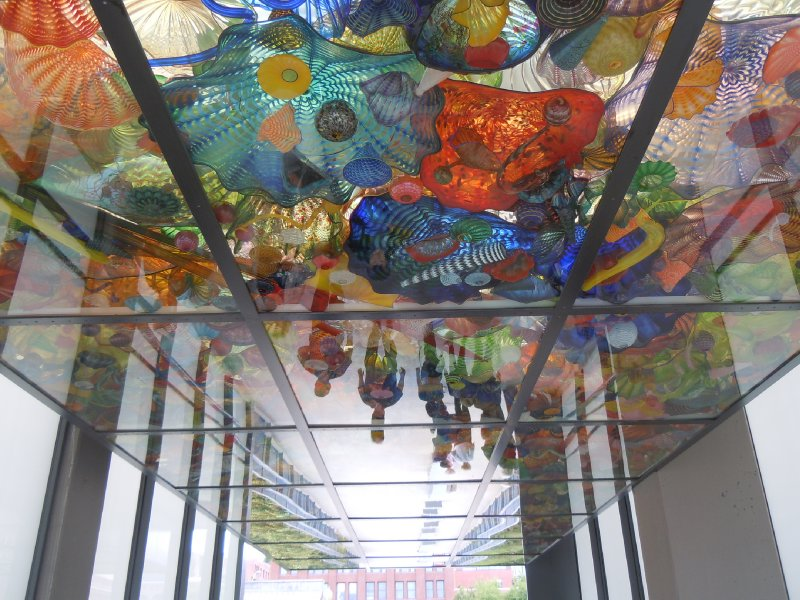 The ceiling of the Bridge of Glass