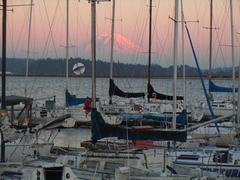 Mt. Rainer at sunset