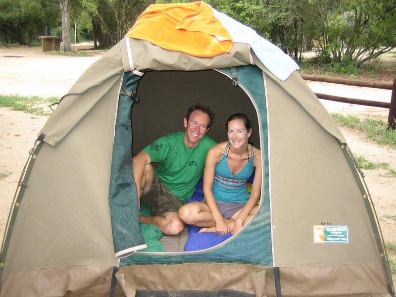 Inside our tent - Kruger National Park