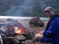 Sitting around the campfire in the Cascades