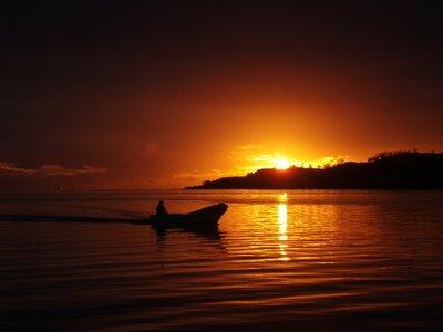 Sunset over Malolo