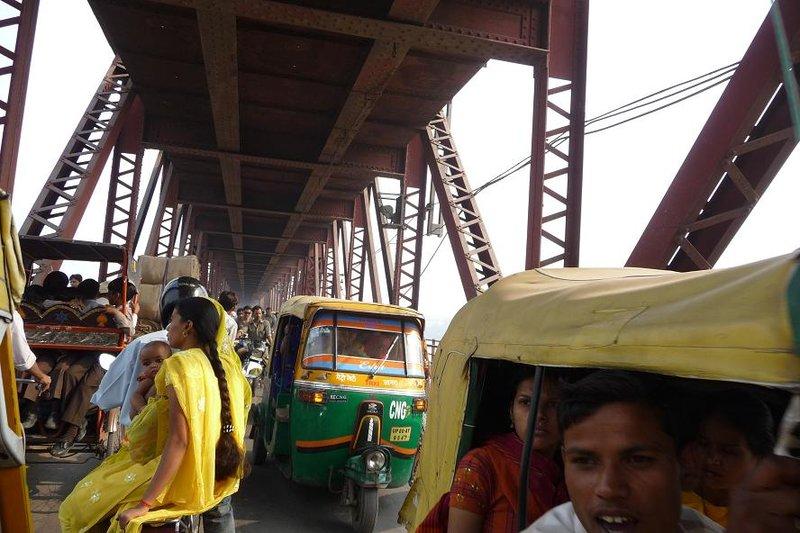 India - Agra - bridge crossing