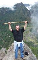 Scott high above Machu Picchu