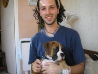Me with a puppy