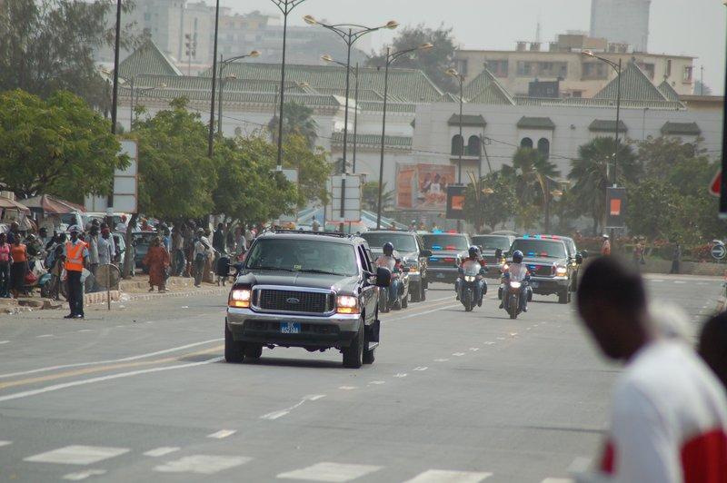 Dakar, The president pass by