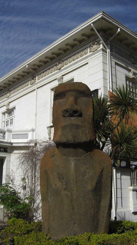 Easter Island Statue in Viña del Mar