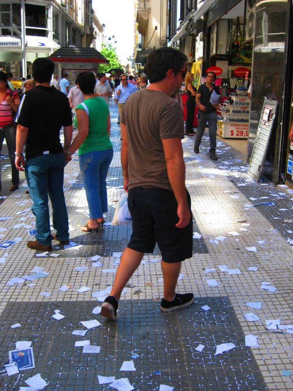 BA-Gur walking on littered streets