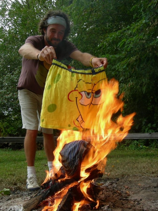 the BURNING: spongebob