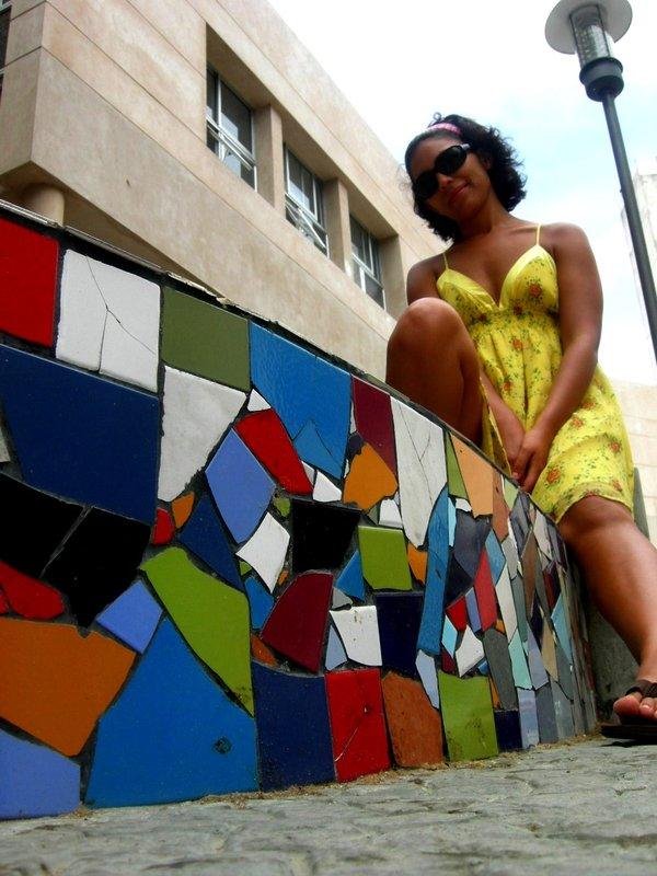 Montevideo: marisa on stoop