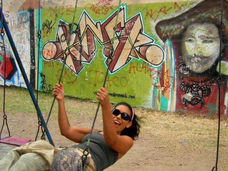 Montevideo: marisa on swing