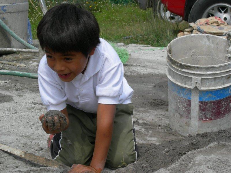 Tashirat construction: julito gets muddy