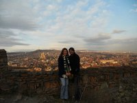Tony and I at the castle in Tblisi