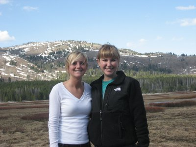 Me and my roommate, Lauren beginning our hike to Cascade Lake
