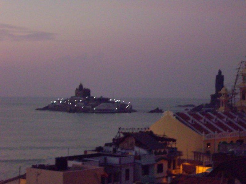 Dawn over Vivekananda Memorial