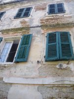 Old house in a Kantouni (small street) in Corfu city.
