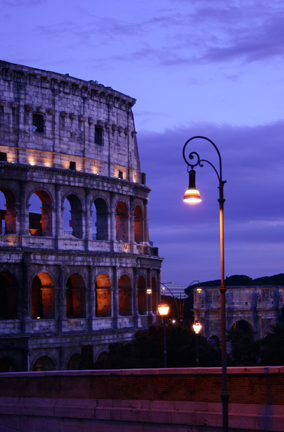 Roman Coliseum at Night