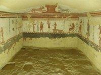 Etruscan tomb, Tarquinia