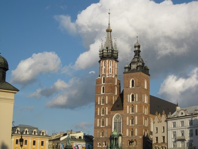 Krakow church in the town square