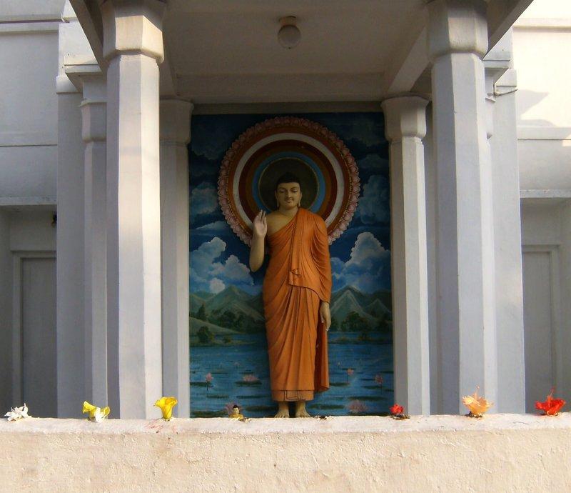 Buddha at International Buddhist Center, Wellewatta, Sri Lanka