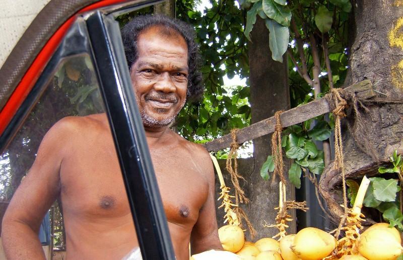 King Coconut Seller--Colombo Area