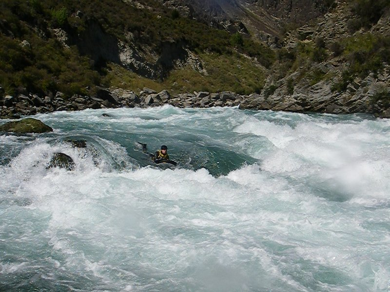 Riverboarding down the Kawarau in New Zealand