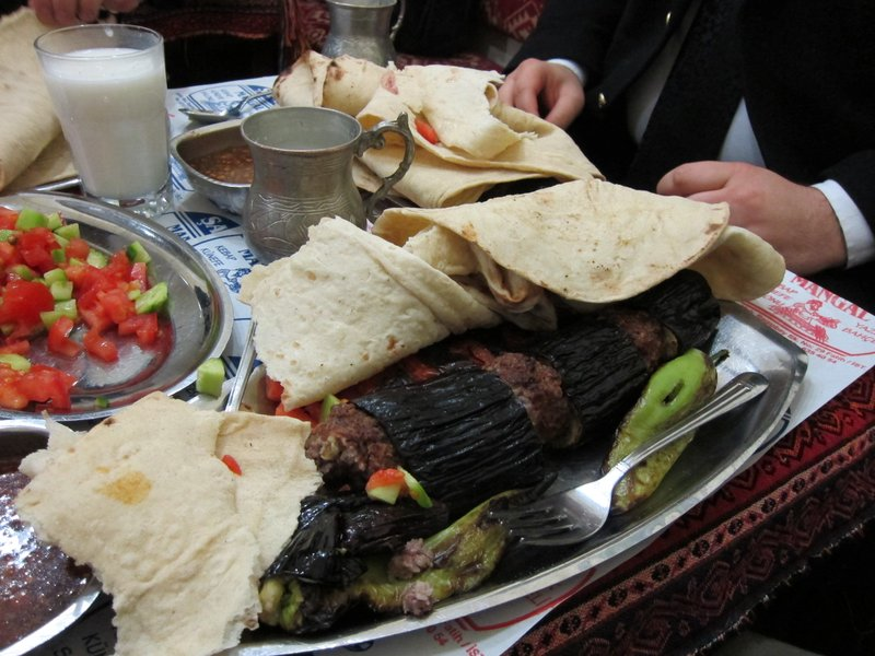 Patlicanli, eggplant & beef kebab.
