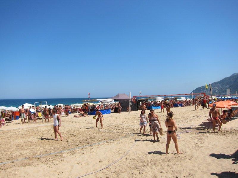 Volley ball on Ipanema Beach