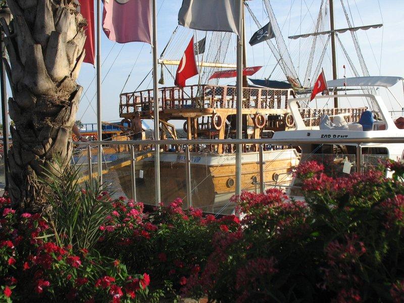 Harbor in Side, Turkey