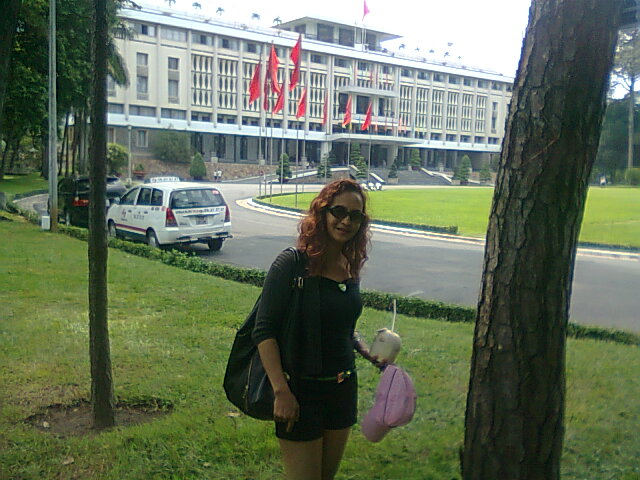 At the Independence  Palace