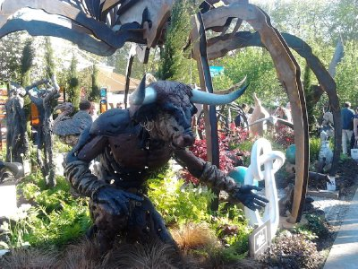 Minotaur.  There were some crazy garden statues available to buy.