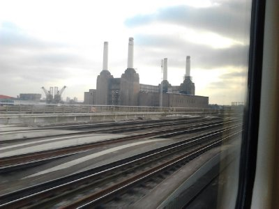 Battersea Power Station from the rail bridge