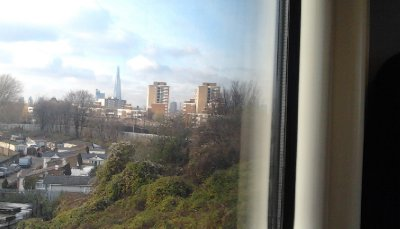 Between Queens Road and South Bermondsey, A view of the Shard