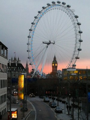 London Eye and St. Stephen's Tower (aka Big Ben)