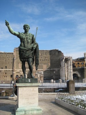 Statues along Via Del Fori Imperiali